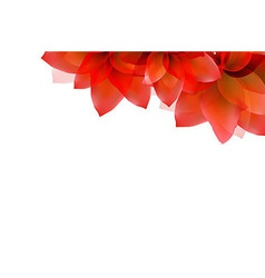 Border of red tulips vector