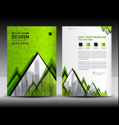 Business brochure flyer template in a4 size green vector