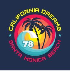 California - vintage badge vector image vector image