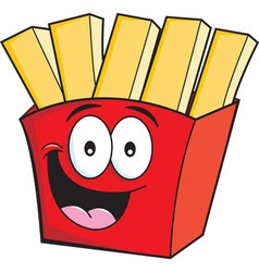 Cartoon french fries vector image vector image