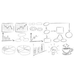 Charts doodles vector image