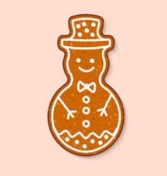 christmas cookie snowman cake sweet vector image
