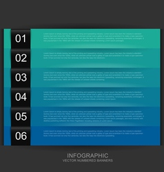 Cool color numbered banners vector image vector image