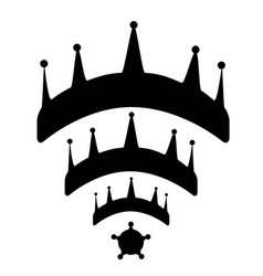 crowns wi-fi vector image vector image