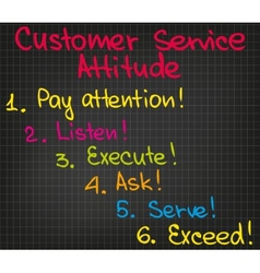 Customer service attitude vector