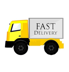 Delivery car yellow vector
