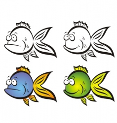 funny fish vector image vector image
