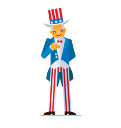 Great in flat style of uncle sam vector