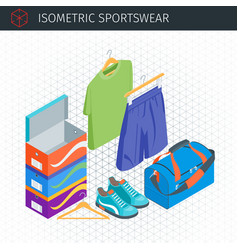 Isometric sportswear set vector