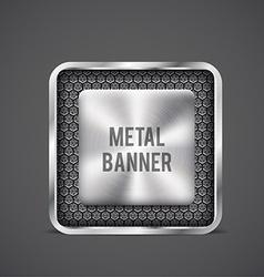 metal banner black grille eps 10 vector image