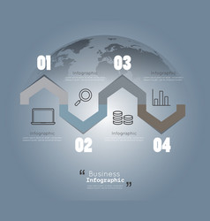 modern infographic templates for business vector image