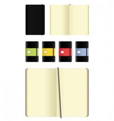 Moleskin notebooks set vector