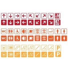 Navigation signs set vector image vector image