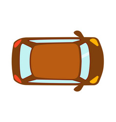 overhead top view on colorful car toy automobile vector image