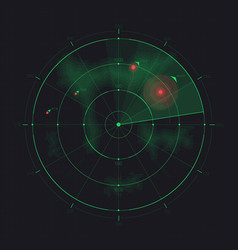 Radar screen futuristic hud radar display vector