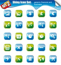 shiny icons vector image vector image