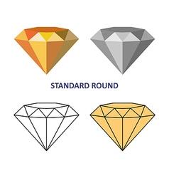 Standard round gem cut vector