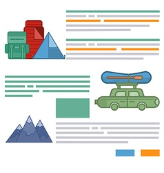 Tourism brochure design elements vector image vector image