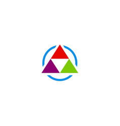 Triangle geometry pyramid colorful logo vector