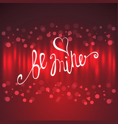 Valentines day lettering background vector