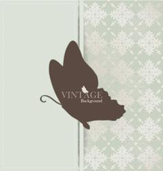 Vintage card with vintage background vector image vector image