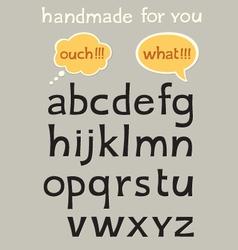 Handmade alphabet vector image