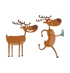 Cartoon deer character vector