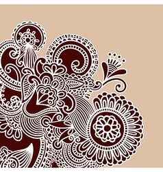 Henna doodle design element vector
