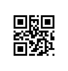 QR code sample for smartphone scanning vector image