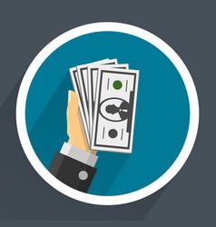 money in hands vector image