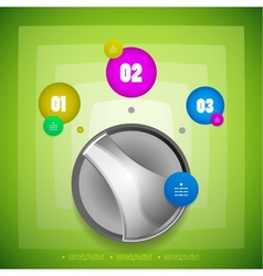 Knob option switch modern template vector