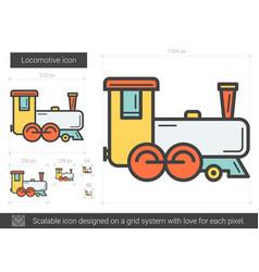 Locomotive line icon vector