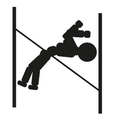 Gymnast jumping over an obstacle sign vector