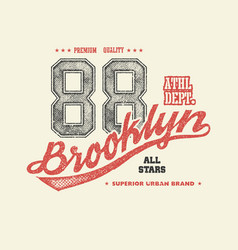 Vintage brooklyn typography t-shirt graphics vector