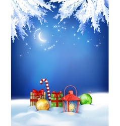Christmas winter night background vector
