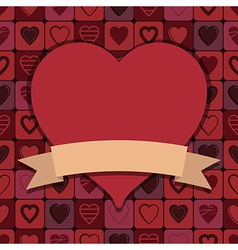 Valentine hearts decoration vector