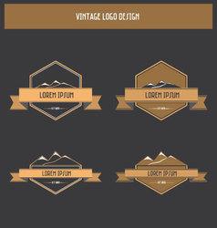 Vintage badge - label design vector
