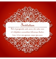 White paper decor with shadow on red vector