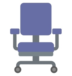 Blue office chair vector