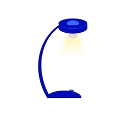 Blue table lamp vector