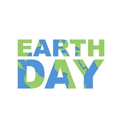 Earth day emblem logo for celebration of earth vector