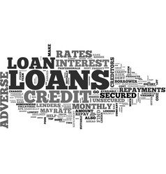 Adverse credit loans text word cloud concept vector