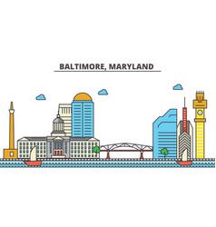 Baltimore marylandcity skyline architecture vector