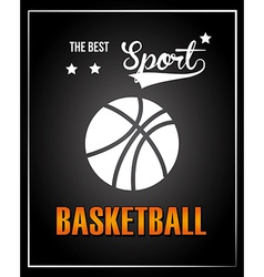 Basketball design over black background vector
