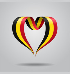 Belgian flag heart-shaped ribbon vector