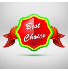 Best choice red label - icon isolated on white vector
