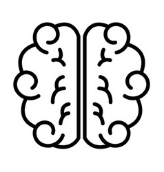 Brain human isolated icon vector