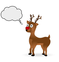 Christmas deer standing on a white background vector