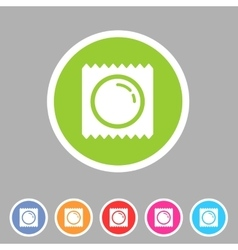 Condom preservative pack wrap icon flat web sign vector image