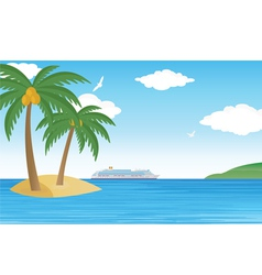 Cruise vector image vector image